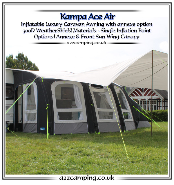 kampa awnings new kampa awning range 2016. Black Bedroom Furniture Sets. Home Design Ideas