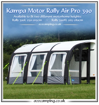 New 2015 Kampa Motor Rally Air Pro 390xl Inflatable Awning
