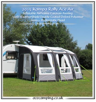New 2015 Kampa Rally Ace 400 Air Pro 390 Caravan Porch