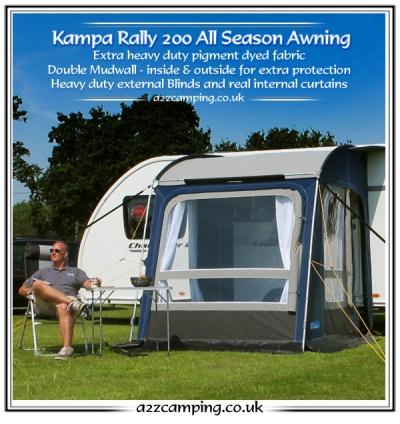 New 2015 Model Kampa Rally All Season Heavy Duty Large 200