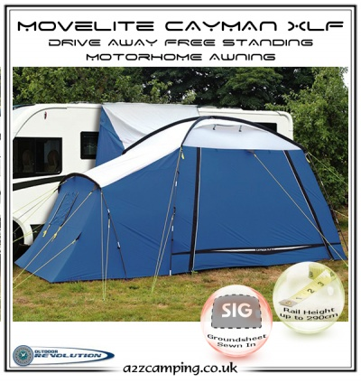 New Blue Movelite Xlf Xl Cayman Free Standing Motorhome