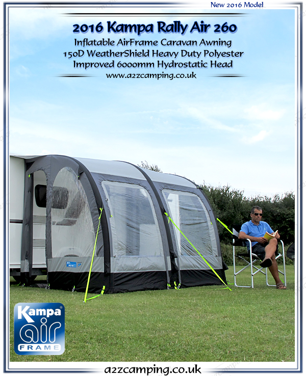 Kampa Rally Air 260 Inflatable Awning Inflatable Caravan