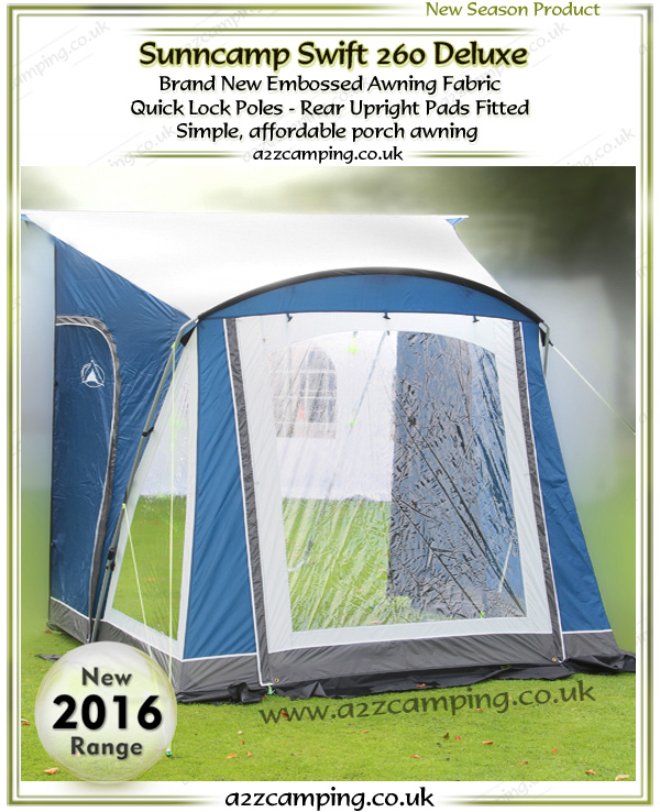 New 2017 sunncamp swift 260 deluxe porch awning