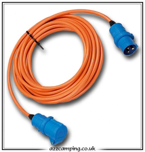 Camping and caravan mains hook up cable and connections UK