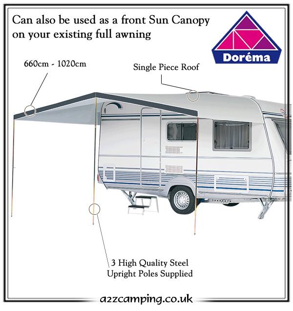 Dorema Monaco Caravan Sun Canopy