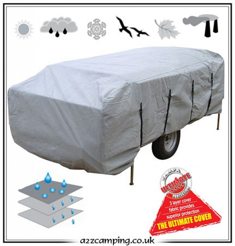 Excellent The Pop Up Tent Trailer Cover Is For The Pop Up Tent Trailers Whose Size  It Is Always A Good Idea To Invest In A Cover, And We Think The Best RV Cover Is The ADCO 52245 Designer Series SFS Aqua Shed Travel Trailer RV Cover