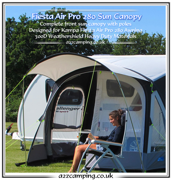2015 Kampa Fiesta Air Pro 280 Front Extension Canopy