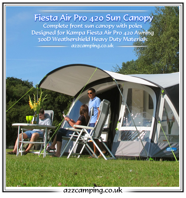 2015 Kampa Fiesta Air Pro 420 Front Extension Canopy