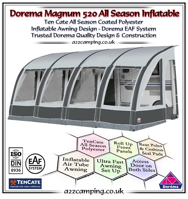 2018 Dorema Magnum Air 520 All Season Inflatable Awning