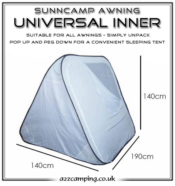 Sunncamp Universal 3 Berth Pop Up Awning Inner Tent