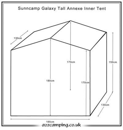 Sunncamp Galaxy Tall Annexe Inner Tent Bedroom