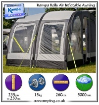 2013 Kampa Rally Air 260 Inflatable Awning