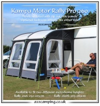 2015 Kampa Motor Rally PRO 260 L (Factory Second)