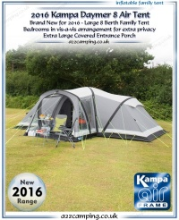 2016 Kampa Daymer 8 Air Inflatable Tent (Factory Second)
