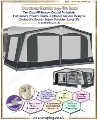 2016 Dorema Garda 240 De Luxe All Season Awning
