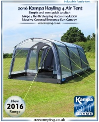 2016 Kampa Hayling 4 Air Inflatable Family Tent