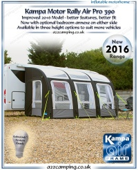 2016 Kampa Motor Rally Air PRO 390 Inflatable Awning (New 2016 Model)