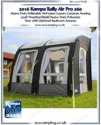 2016 Range of Kampa Inflatable awnings - pump up caravan ...