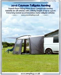 Outdoor Revolution Cayman Tailgate 4x4 Free Standing Motor Home Awning