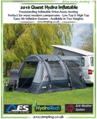 2016 Quest Hydra Inflatable Free Standing Awning