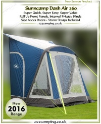 2016 Sunncamp Dash 260 Air Inflatable Porch Awning