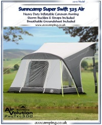 2016 Sunncamp Super Swift 325 Air Heavy Duty Inflatable Awning