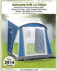 2017 Sunncamp Swift 220 Deluxe Caravan Porch Awning