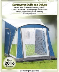 2017 Sunncamp Swift 260 Deluxe Porch Awning