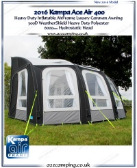 2016 Kampa ACE Air 400 Inflatable Luxury Awning