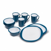 Kampa 12pc Dinner Set - Blue