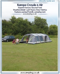 Kampa Croyde 6 Air Inflatable Tent (Factory Second)