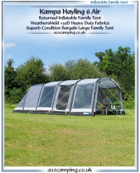 Kampa Hayling 6 Air Inflatable Family Tent (Factory Second)