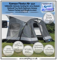 2014 Kampa Fiesta Air 350 Inflatable Awning Grey Second