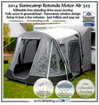 2014 New Sunncamp Rotonde Motor Air 325 Drive Away Inflatable Motor Awning