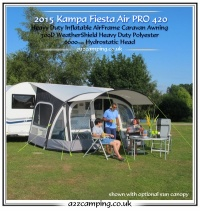 2016 Kampa Fiesta Air Pro 420 Inflatable Awning