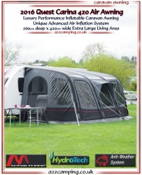 2016 Quest Carina 420 Inflatable Caravan Awning
