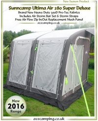 2016 Sunncamp Ultima Air 280 Super Deluxe Heavy Duty Inflatable Awning