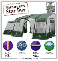 Sunncamp Mira 390 Awning with Free Uk Mainland Delivery