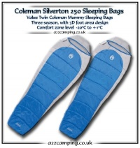 Two x Coleman Silverton 250 Mummy Sleeping Bags