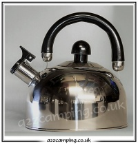 Polished Chrome Finish Effect Gas Kettle