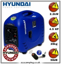 2014 Hyundai HY2000SEi remote Start Leisure Generator - Updated Spec 2014