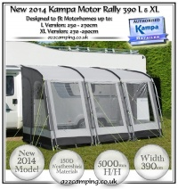 Kampa Motor Rally 390 L XL Motorhome Awning Bundle
