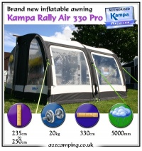 2015 Kampa Rally Air PRO 330 Inflatable Awning Return