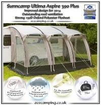 2014 Sunncamp Ultima Aspire 390 Plus Caravan Awning