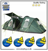 Sunncamp Haven 800 8 Berth Green Sewn in Groundsheet