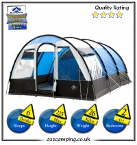 Sunncamp Invader 600 6 Berth Blue Family Tent