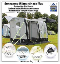Sunncamp Ultima Air 280 - Inflatable Caravan Awning