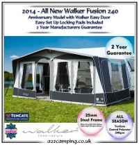 2015 Walker Fusion 240 All Season Caravan Awning