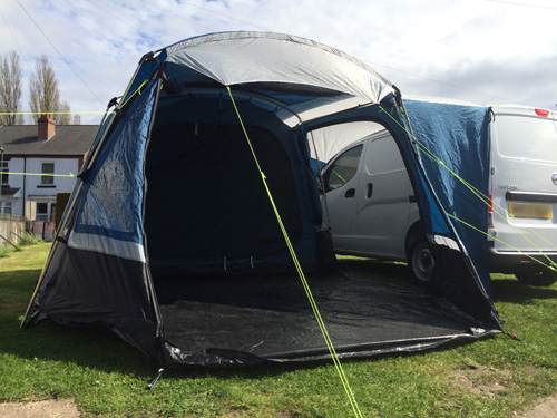 Awnings for Mini Day Vans like VW Caddy and Transit Connect Vans