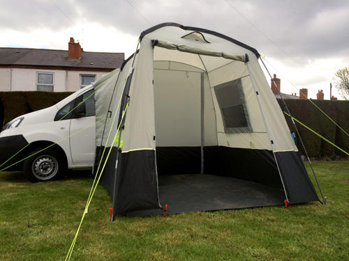 Awnings For Mini Day Vans Like VW Caddy And Transit Connect